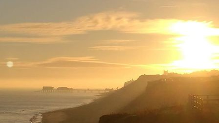 The sunrise over the Norfolk coast. Picture: Keith Jones