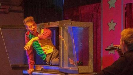 Robbie James and Alex Morley entertaining audiences with one of the illusions featured in their Fun