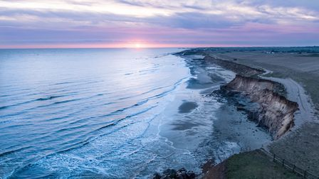 Happisburgh coastline at dawn. Picture: THEO SOUTHEE/ABOVE AIR MEDIA