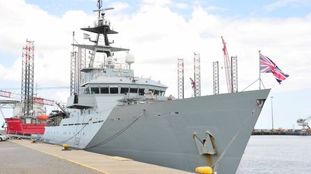 HMS Tyne visited Great Yarmouth earlier this year. Picture: NICK BUTCHER