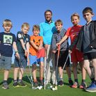 Youngsters from Colby Primary School enjoy trying golf with Mundesley club professional Ryan Pudney.