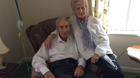 Jack Bennett, 102, and his partner Ruth Walford. Picture: David Bale