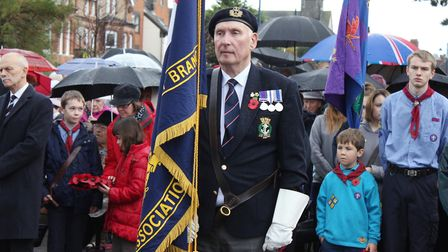 Remembrance Sunday service at Sheringham. Photo: KAREN BETHELL