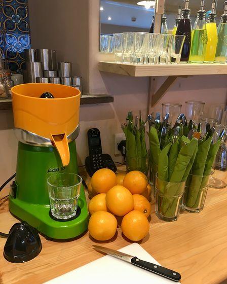 On the menu at Shambles in North Walsham: freshly squeezed juice (pictured), coffee, drinks, tapas a