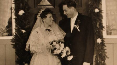 Margrit and Noel Gant on their wedding day in 1958.Photo: supplied