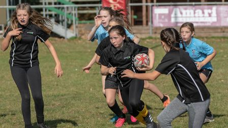 Girls have joined boys at North Walsham RFC in getting a taste of what rugby has to offer Picture: R