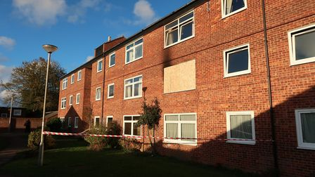 A fire broke out in a flat in Manor Walk, Holt. Picture: STUART ANDERSON
