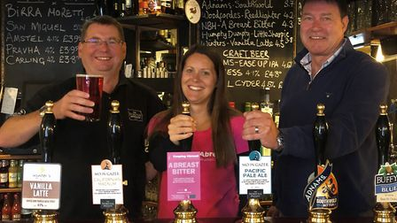David Holliday of The Norfolk Brewhouse joins Keeping Abreast's Lisa Becker and owner Craig McLaren