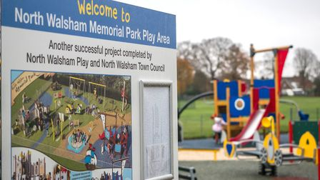 The official opening of the play park in North Walsham. Picture: John Newstead Photography