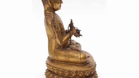 The lama statue, sold at Keys Fine Art Auctioneers in Aylsham for £56,000. Picture: KEYS FINE ART AU