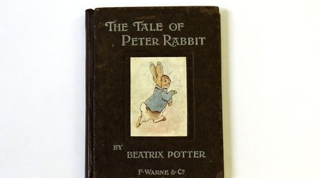 The first edition of Beatrix Potter's The Tale of Peter Rabbit. Picture: ANDY NEWMAN