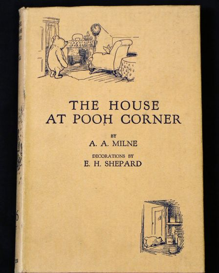 the first edition of A.A.Milne's The House at Pooh Corner. Picture: ANDY NEWMAN