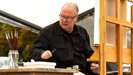 Allan Martin in action for Landscape Artist Of The Year. Picture: Storyvault Films