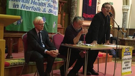 (L-R): North Norfolk MP Norman Lamb, Martin Booth from the TUC, and a spokesperson from the Campaign