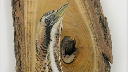 Detail of on of tne of the wildlife-themed works on show as part of BIRDscapes Gallery's Christmas e