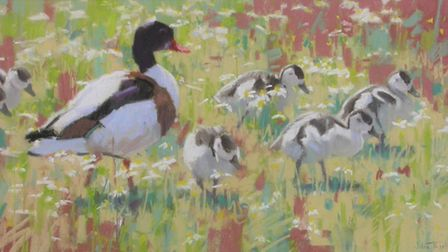 One of the wildlife-themed works on show as part of BIRDscapes Gallery's Christmas exhibition.Photo: