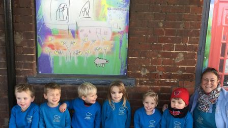 Art work created by children from Worstead Pre-school. Picture: Worstead Pre-School