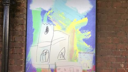 Children from Worstead Pre-school created art work to reflect the village. Picture: Worstead Pre-Sch