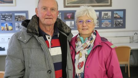 Glenys Poole and her husband Brian Poole, from Northrepps. Mr Poole's life was saved by emergency wo