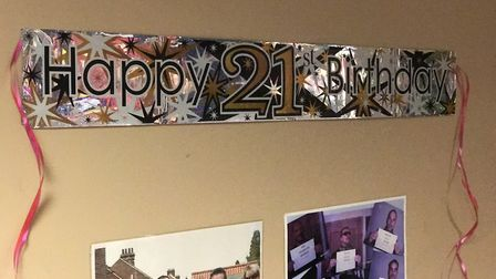 Former residents of Winston Court in North Walsham celebrate the centre's 21st birthday. Picture: Vi