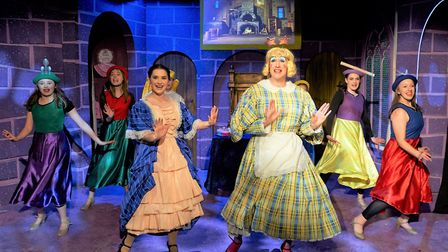 Dance action in Sheringham Little Theatre's Beauty and the Beast panto. Picture: ANDI SAPEY