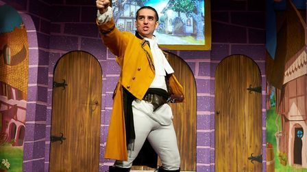 Baddie Gaston (Kyle Fraser) stokes up the boos in Sheringham Little Theatre's Beauty and the Beast p