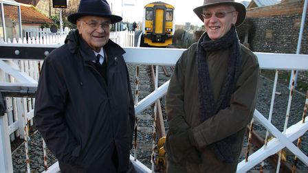 Campaigners David Hurdle and James Thomson are calling for better bus and train links in north Norfo