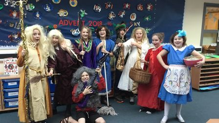 Characters from Aldborough school's Mish Mash panto. Picture: Aldborough school