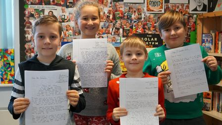 Pupils at Reepham Primary School have written to their MP to ask him to do more to help refugees. Ph