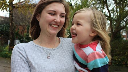 Emma Glover with two-and-a-half-year-old daughter Freya, who was diagnosed with epilepsy a few weeks