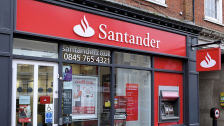 The Santander branch in North Walsham before the makeover. Picture: Mark Bullimore