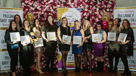 The winners of the 2018 Norfolk Pregnancy, Baby and Child Awards. Picture: SUPPLIED BY ALEX ATKINSON