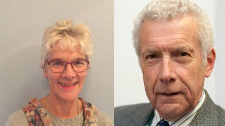 North Norfolk councillors Hilary Cox and Nigel Dixon. Picture: NNDC