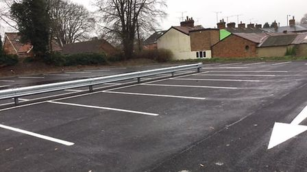 Highfield Road car park in Fakenham after the refurbishment. Picture: NNDC