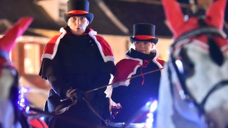 The carriage drivers at the Reepham Festival of Light. PICTURE: Jamie Honeywood