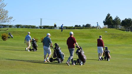 Golfers enjoying the action at Mundesley Golf Club Picture: RICHARD BATSON