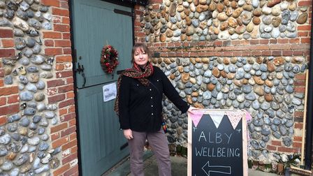 Jo Turner at the new Alby Wellbeing shop. Pictures: David Bale