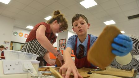 Pupils and teachers take part in a 3D gingerbread bake off at North Walsham High School. PICTURE: Ja