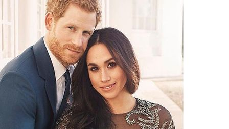 Prince Harry, pictured with Meghan Markle, is an avid wildlife campaigner. Picture: Alexi Lubomirski