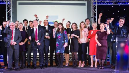 Last year's winners and sponsors of the North Norfolk Business Awards. Picture: Chris Kirby