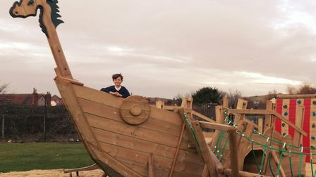 Sheringham Playpark Revamp received a grant of £2000 which helped them add a bespoke Viking ship to