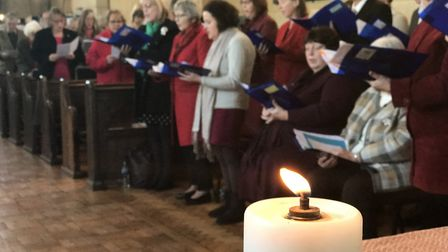 Parish members attend the final service of the Rector of the Poppyland Benefice, David Roper, before