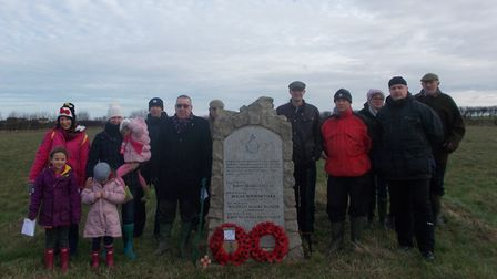 Remembering the crew of a Hudson bomber that crashed. Picture: supplied by Robert Barker