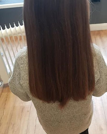 Eight-year-old Lola-Mai Southall from North Walsham has donated eight inches of her hair to charity.