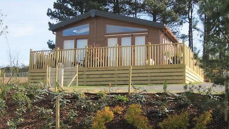 New timber lodges at Woodland Holiday Park could look like this. Pictures: Parker Planning Services