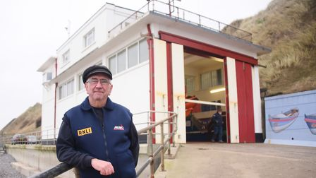 Trevor Holsey, retiring from 57 years service with the RNLI at Sheringham. Picture: DENISE BRADLEY