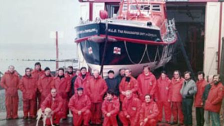 Images taken from a new book about Sheringham Life boat station.Pictured is the lifeboat crew with T