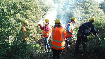 Volunteers working at Briggate. Pictures: North Walsham and Dilham Canal Trust