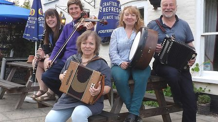 The Occasional Ceilidh Band has released a new CD called All Our Own Work. Pictured are, from left,