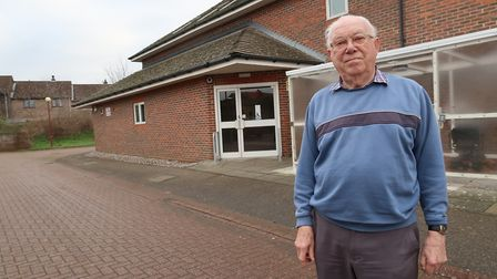 George Hacon outside Barkers Herne sheltered housing in Cromer. Picture: STUART ANDERSON